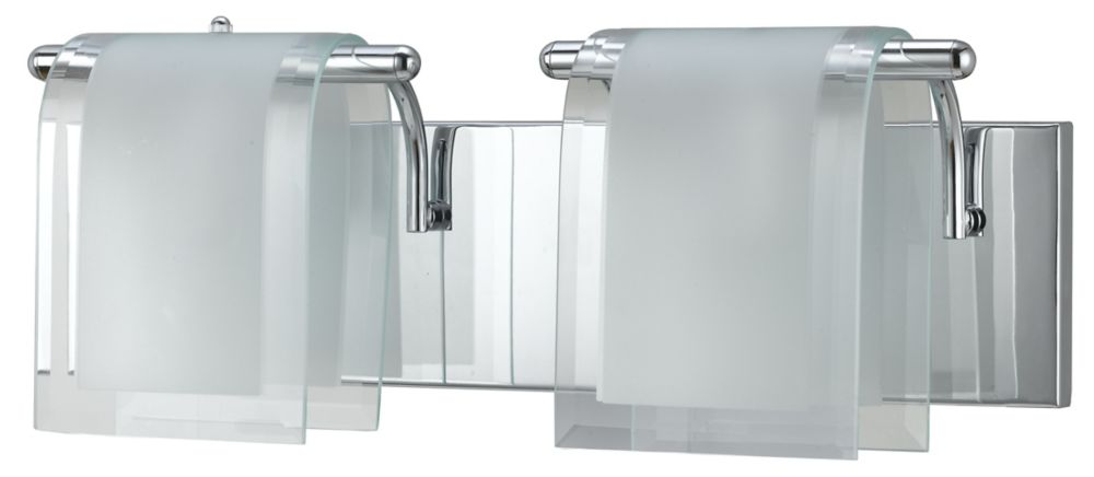18-1/8 Inches Wall Sconce, Chrome Finish