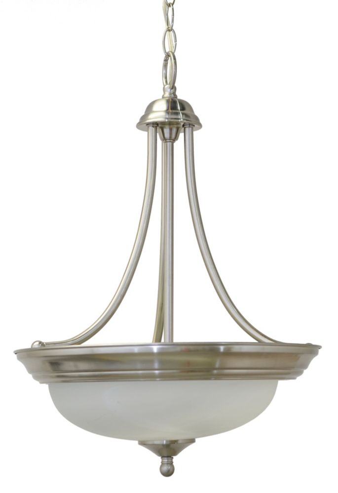 17 Inches Pendant, Brushed Nickel Finish
