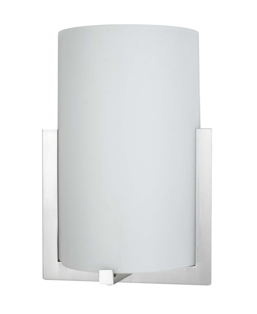 8-1/2 Inches Wall Sconce, Brushed Nickel Finish
