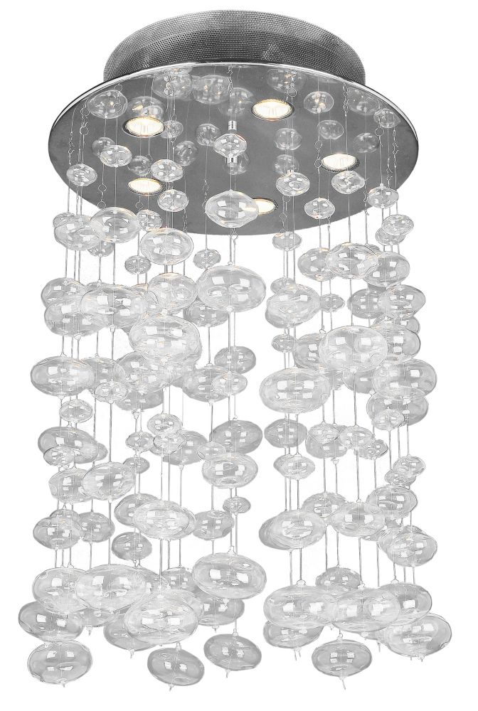 19-11/16  Inches Chandelier, Chrome Finish