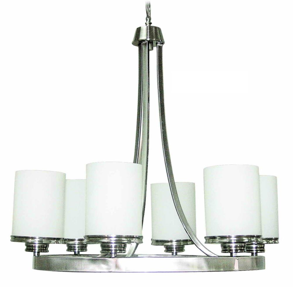 23-1/2  Inches Chandelier, Brushed Nickel Finish