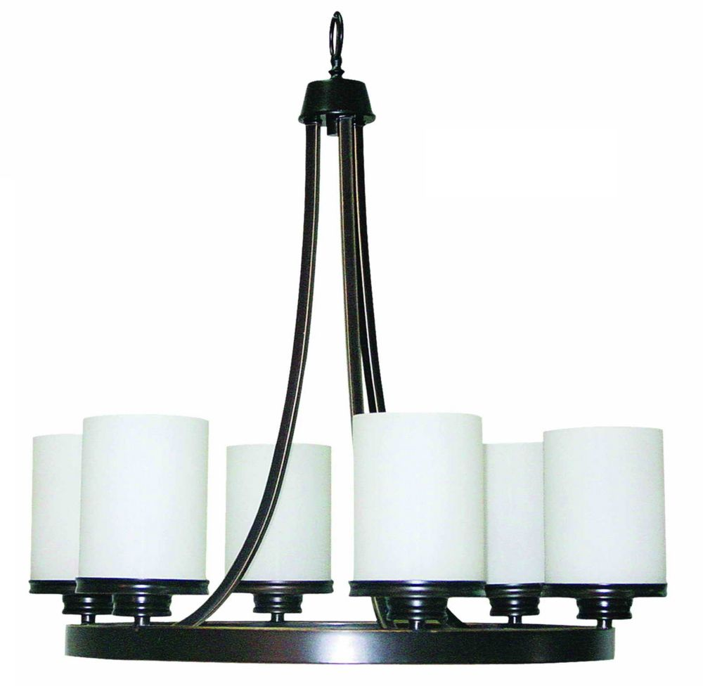 23-1/2  Inches Chandelier, Weathered Bronze Finish