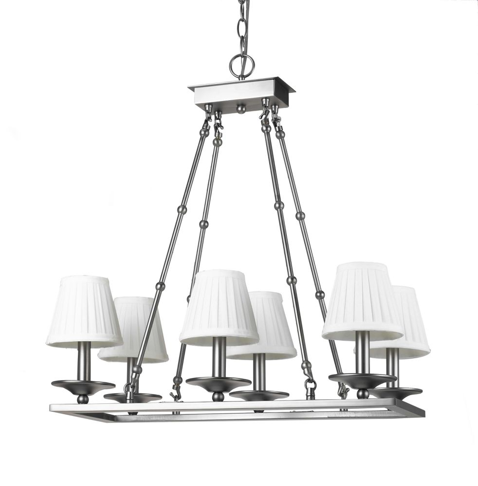 24  Inches Chandelier, Antique Pewter Finish