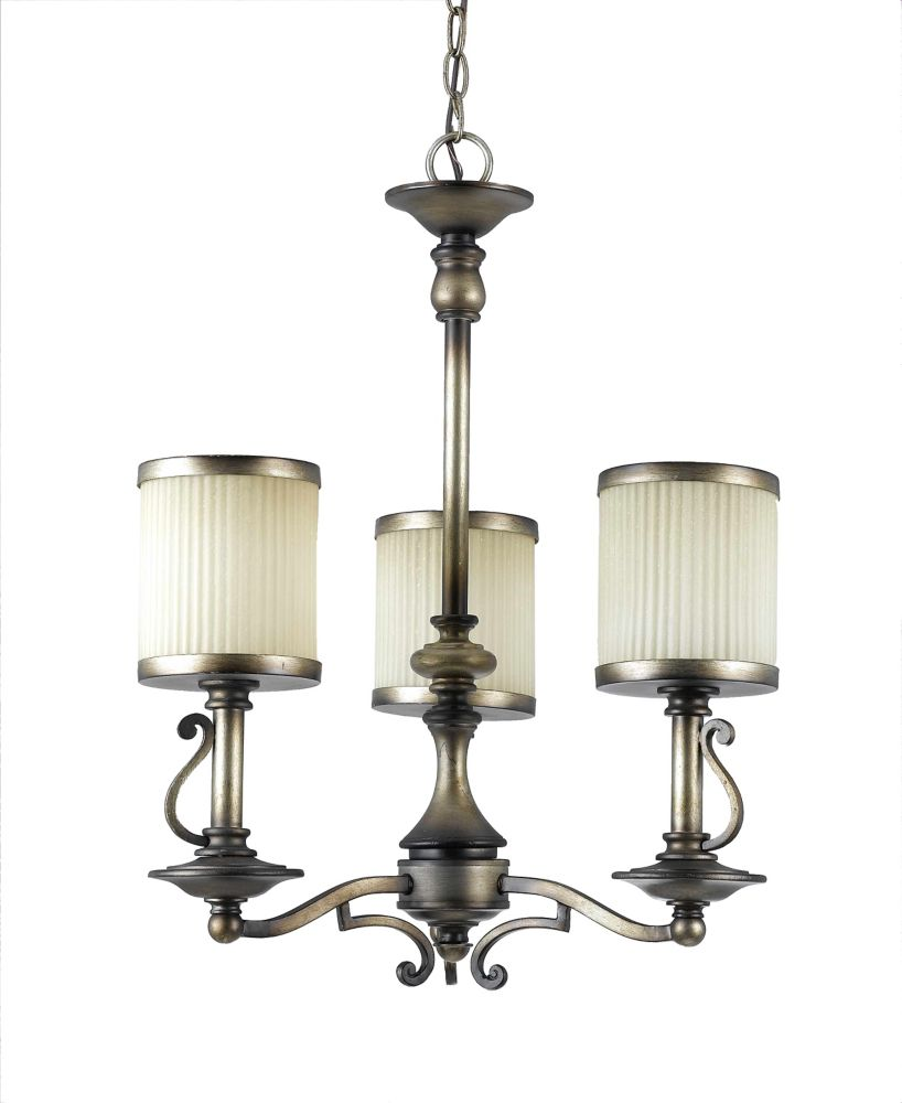 18-1/2  Inches Chandelier, Cappucino Finish