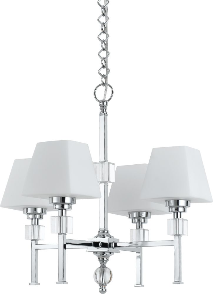 22  Inches Chandelier, Chrome Finish