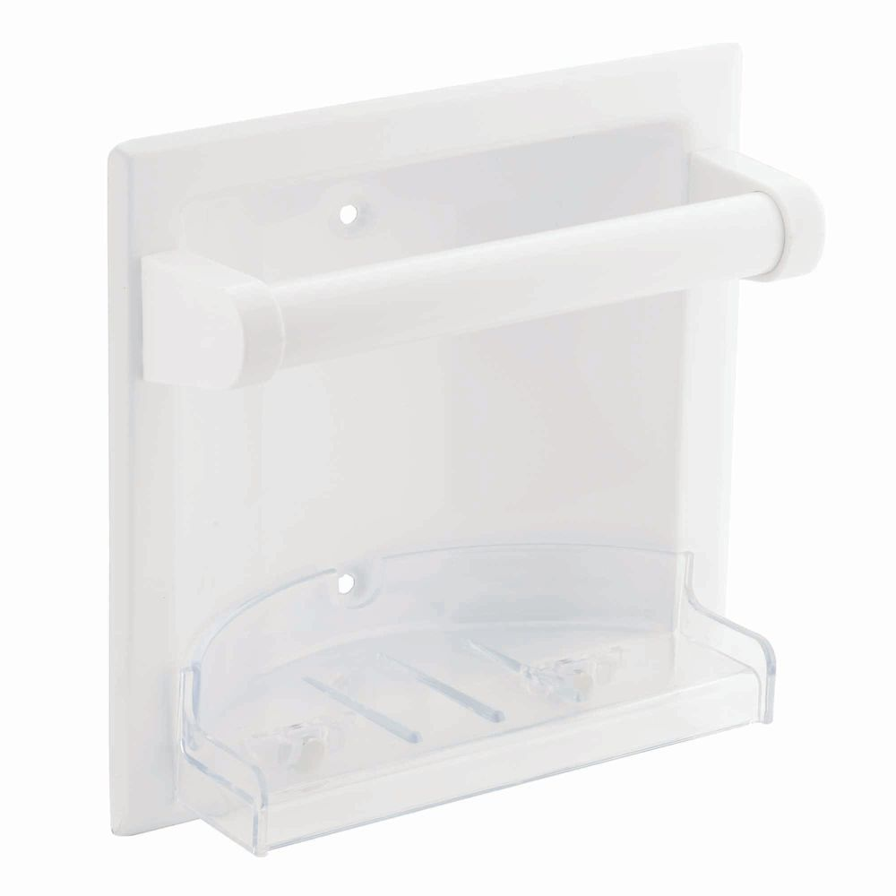 Donner Recessed Soap Holder -  White
