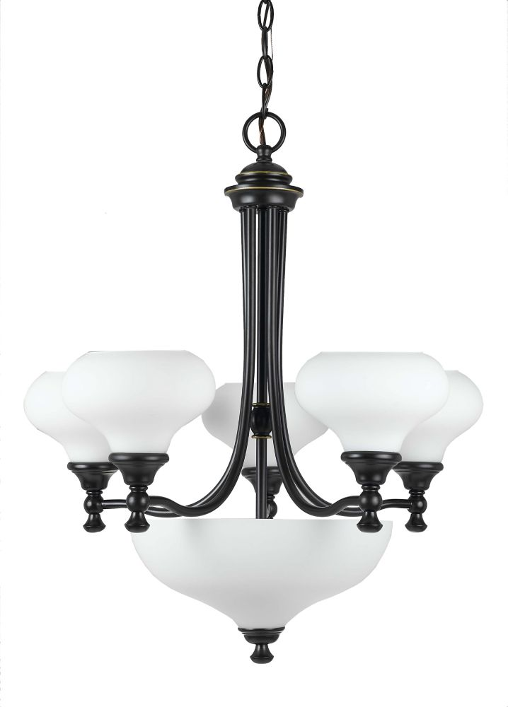 24 Inches Chandelier, Weathered Bronze Finish CC209/5 3WB in Canada