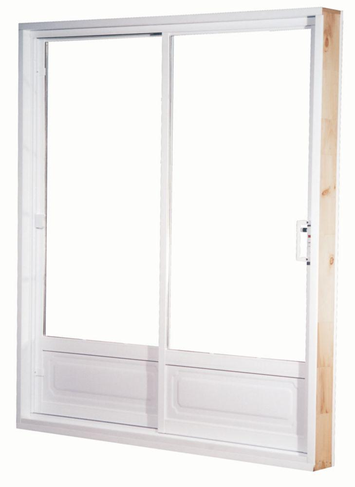 60-inch x 80-inch Low-E Lefthand Garden Panel Vinyl Patio Door