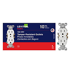 Leviton Duplex Tamper Resistant Receptacle in White (10-Pack)