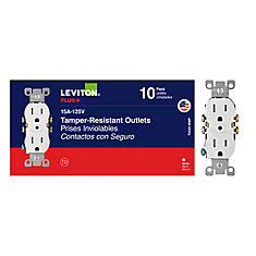 Duplex Tamper Resistant Receptacle in White (10-Pack)