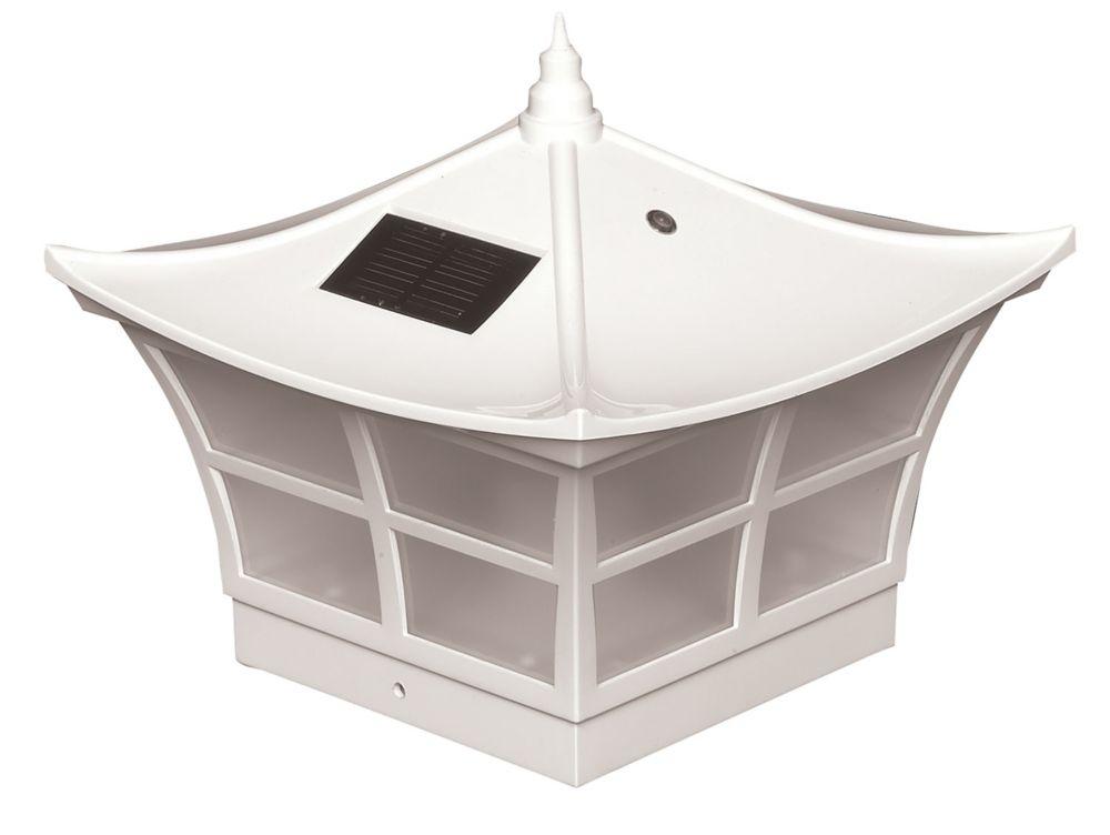 Lampe solaire pour poteau Ambience- blanc 5 po x 5 po