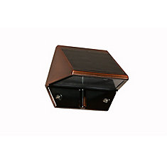 Solar 2-LED Outdoor Copper Integrated LED Deck and Wall Light