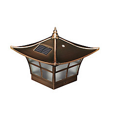 Ambience 4 inch x 4 inch Outdoor Electroplated Copper Solar Post Cap