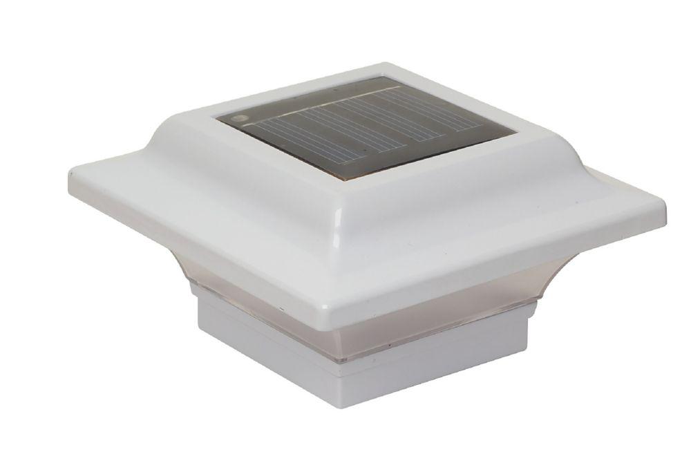 Lampe solaire pour poteau Imperial- blanc 2,5 po x 2,5 po/ 2,25 po x 2,25 po/ 2 po x 2 po