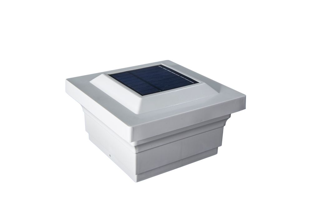 5X5 White Pvc Majestic Solar Post Cap