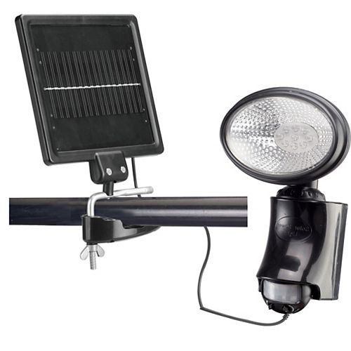 Classy Caps Solar 180-Degree Adjustable Black Motion Activated Outdoor Integrated LED Security Flood Light