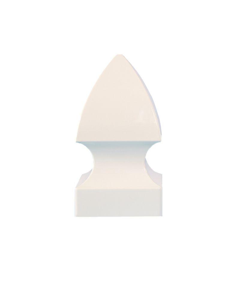 4X4 Gothic White Pvc Post Cap