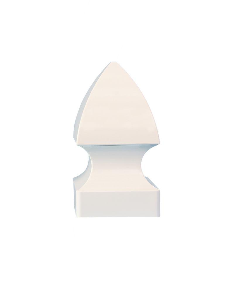 5 po x 5 po capuchon de poteau PVC Gothic- blanc