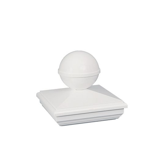 Classy Caps 4X4 New England Ball White Pvc Post Cap