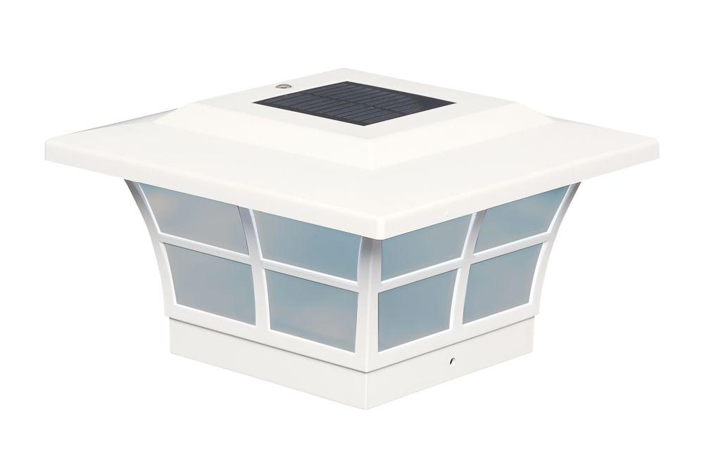 5X5 White Pvc Prestige Solar Post Cap
