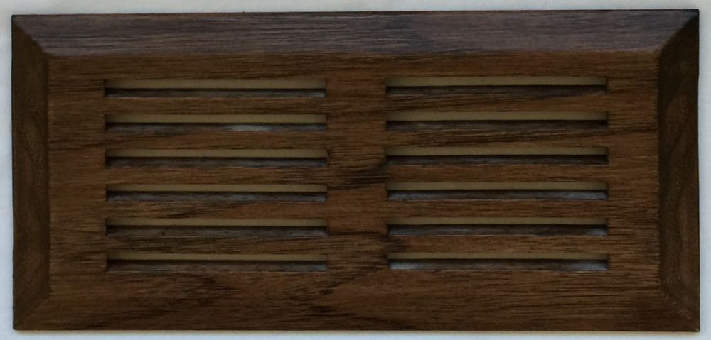 "Grille de Ventillation Surface Hickory Autumn sunset 4""X 10"""