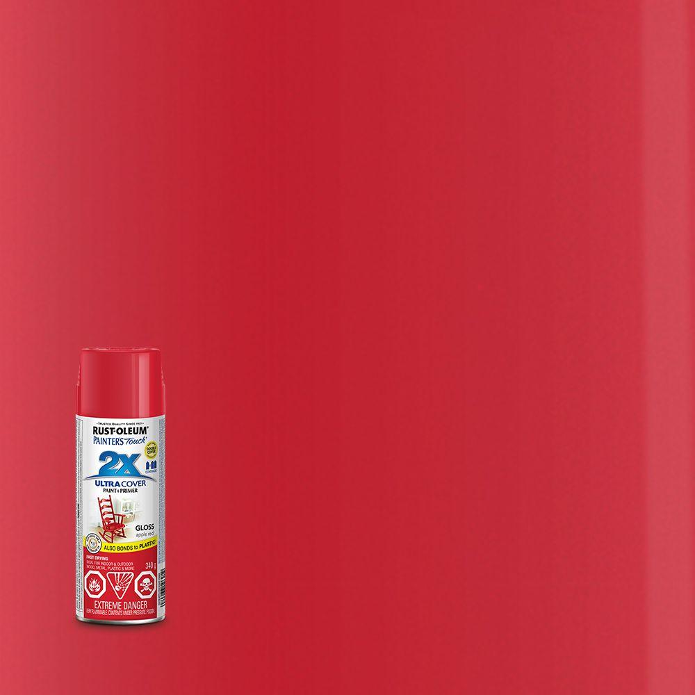 Pt 2X Rouge pomme lustré Aérosol