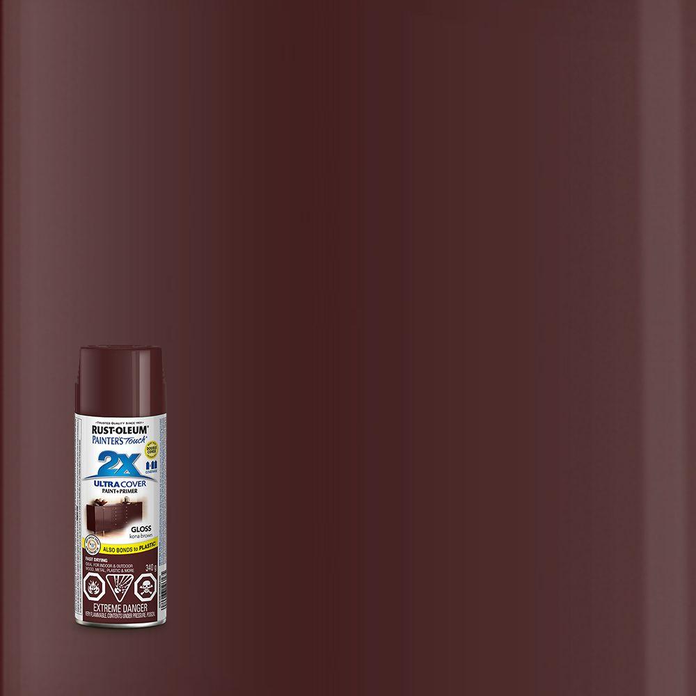 Painter's Touch 2X Pt 2X Gloss Kona Brown Aerosol