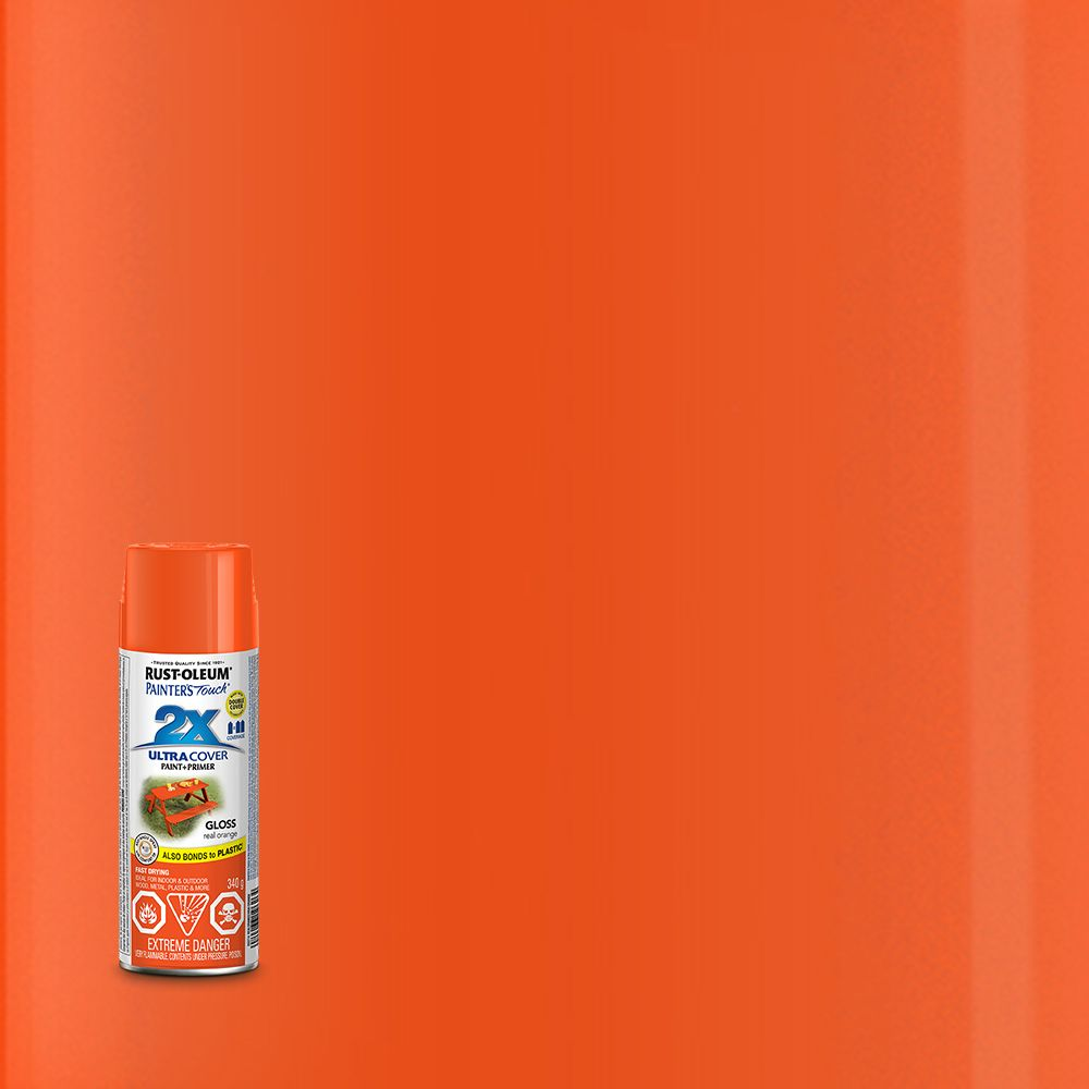 Pt 2X Vrai orange lustré Aérosol