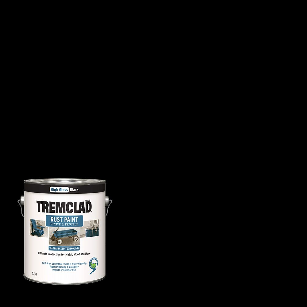 Tc Waterbase Gloss Black 3.78L