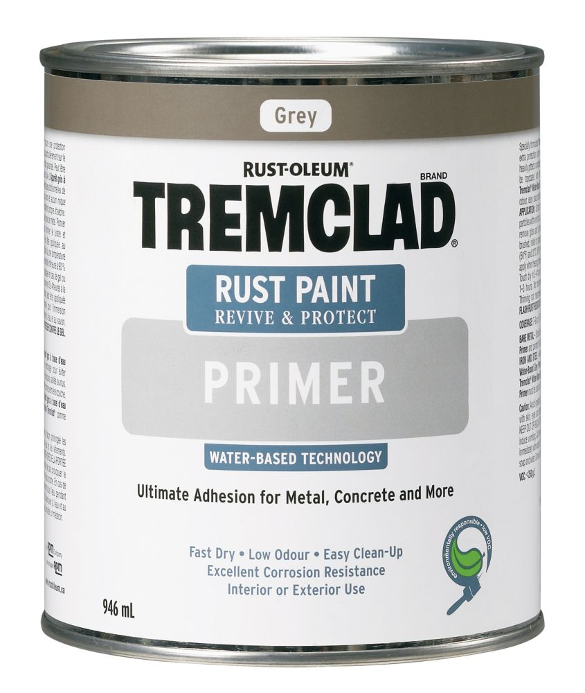 tremclad peinture antirouille base deau appr t gris 946ml home depot canada. Black Bedroom Furniture Sets. Home Design Ideas