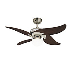 Jasmine Dark Pewter And Chrome Ceiling Fan With Light - 42 Inch