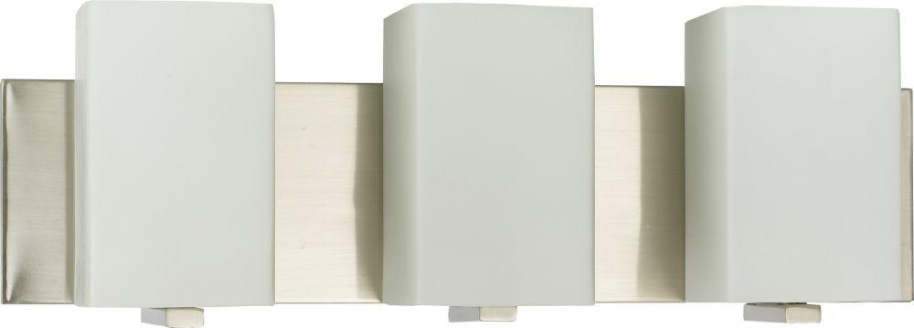 50,8cm accessoires de meuble-lavabo, fini nickel brossé