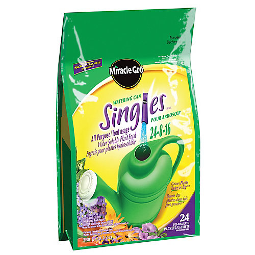 Engrais hydrosoluble tout usage Miracle-Gro SinglesMC pour arrosoir 24-8-16