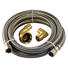 Flex Connector Ss 72i Dishwasher Kit Two Elbow Lead Free