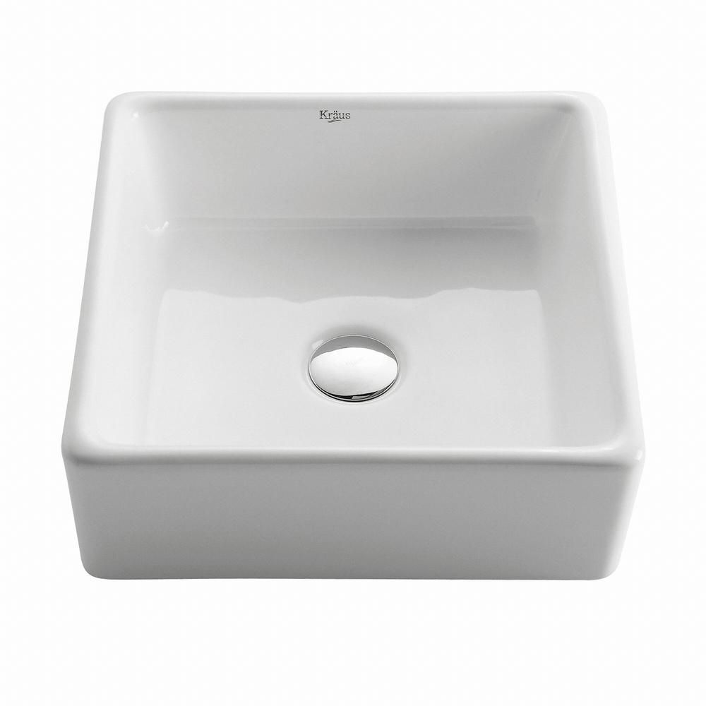 Square Ceramic Sink in White