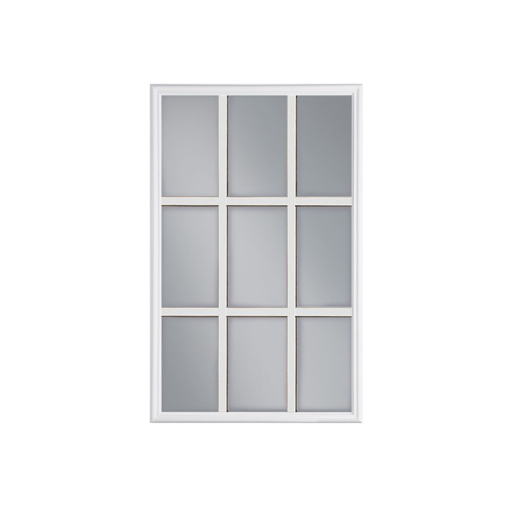 Masonite 22 Inch X 36 Inch 9 Lite Internal Grille Low E Argon Glass Door Insert The Home Depot