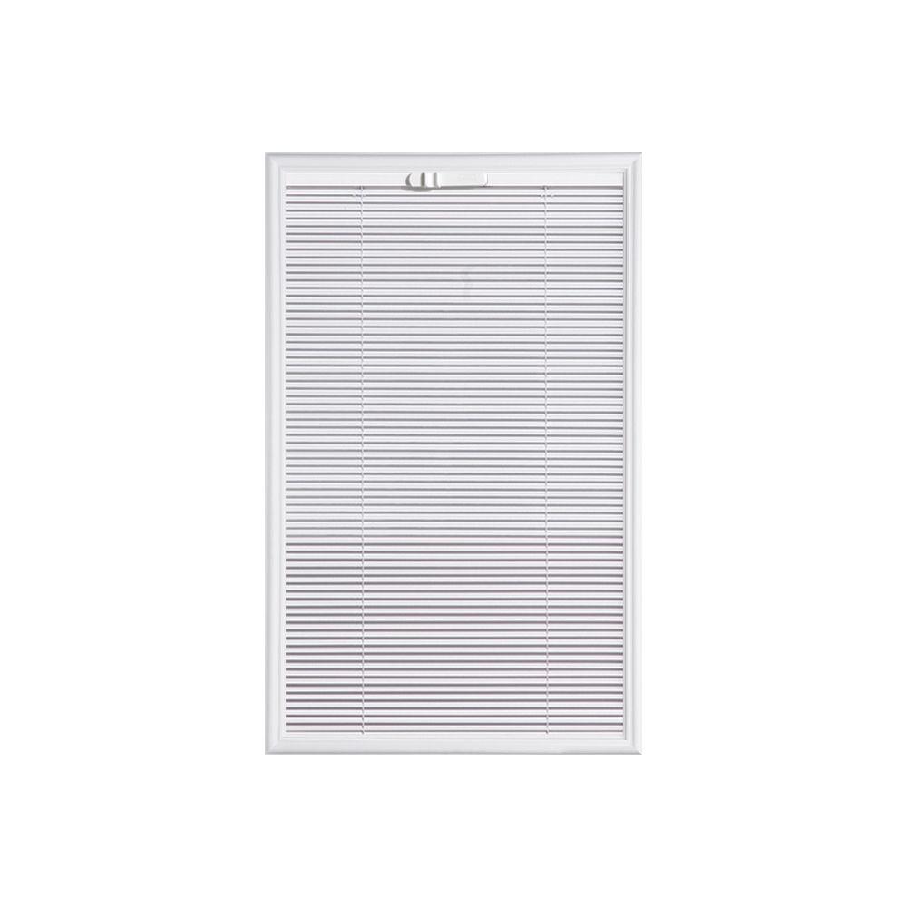 Masonite 22-inch x 36-inch Tilting Internal Miniblind Low-E 1/2-Lite Glass Insert