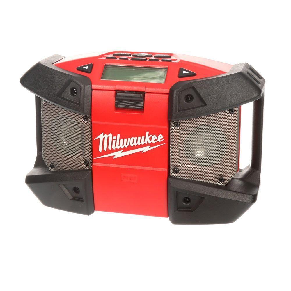 Milwaukee Tool M12 Li Ion Cordless Jobsite Radio The Home Depot Canada Charger Hp Motor Usb Waterproof