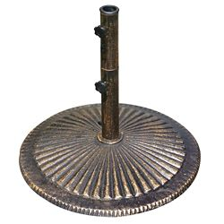 Island Umbrella 50 lb. Classic Cast Iron Umbrella Base in Bronze
