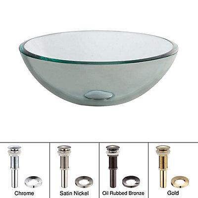 Inch Circular Gl Bathroom Sink
