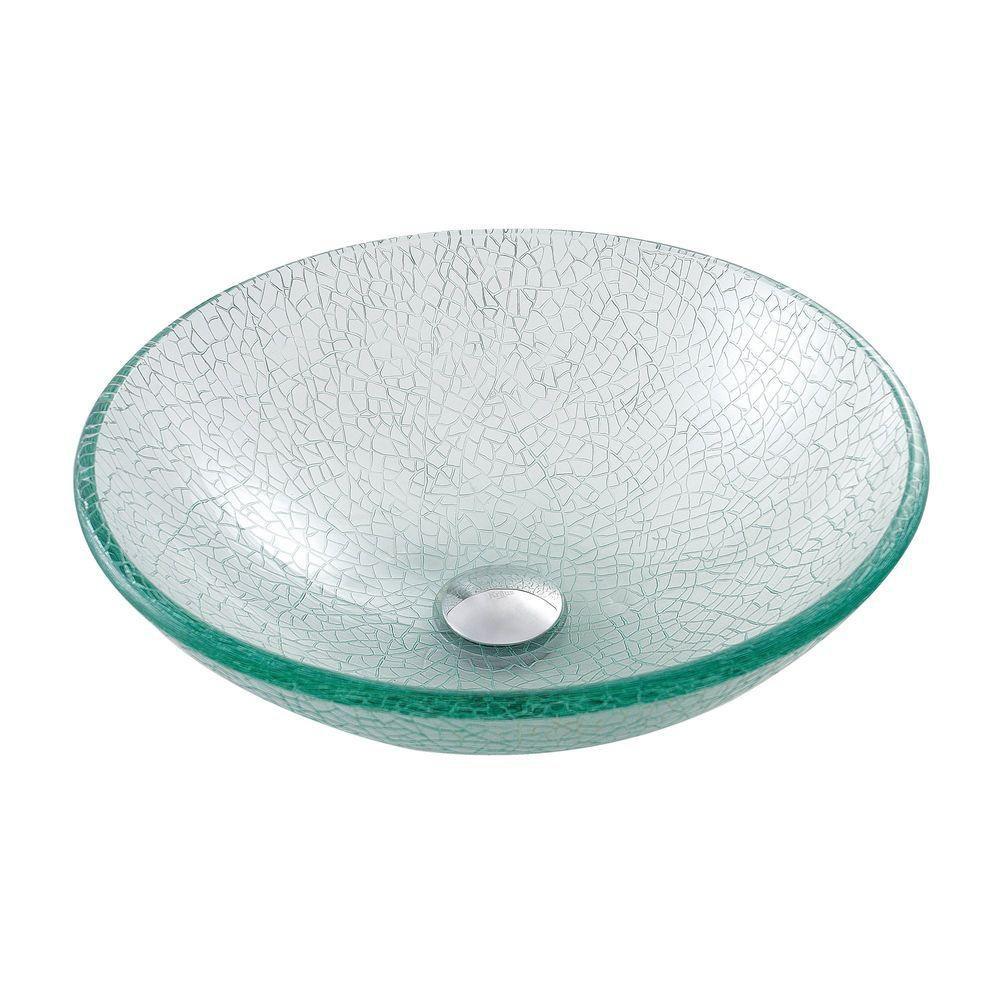 Lavabo-vasque en verre mosaïque