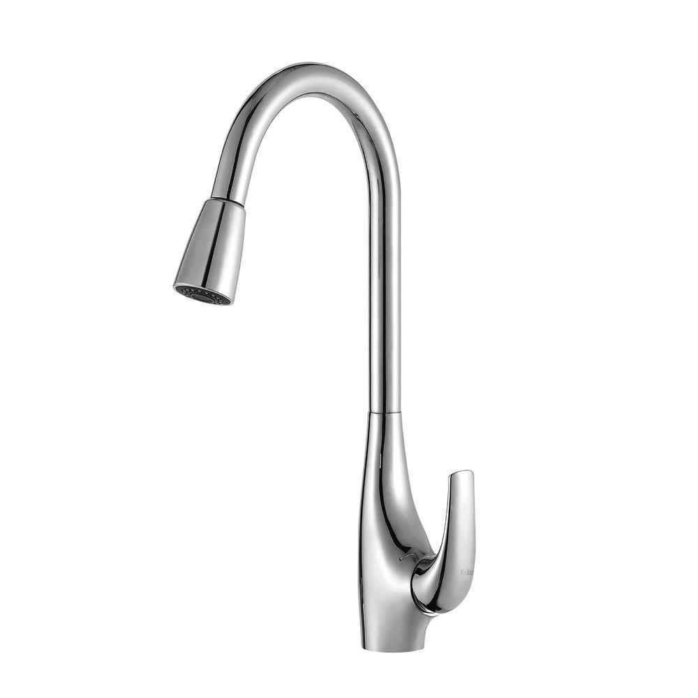 Single Lever Pull Out Kitchen Faucet Chrome KPF-1621 Canada Discount