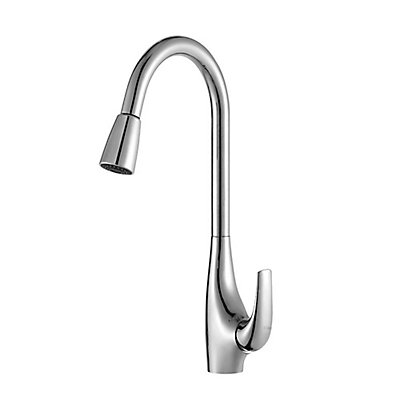 Kraus Single-Handle High Arch Kitchen Faucet w/Pull Down Dual ...