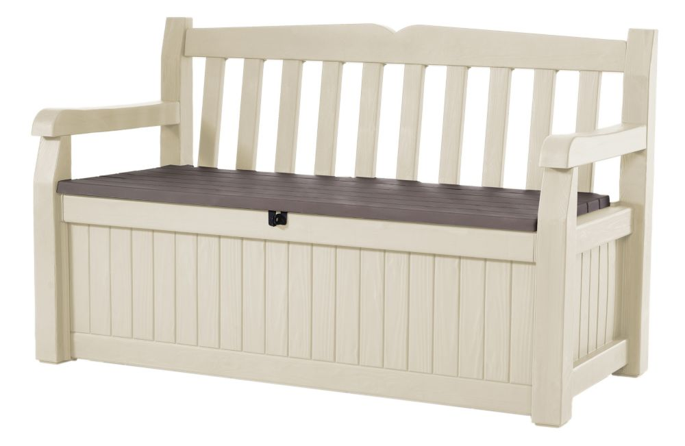 Jardin garden bench with storage the home depot canada Home depot benches