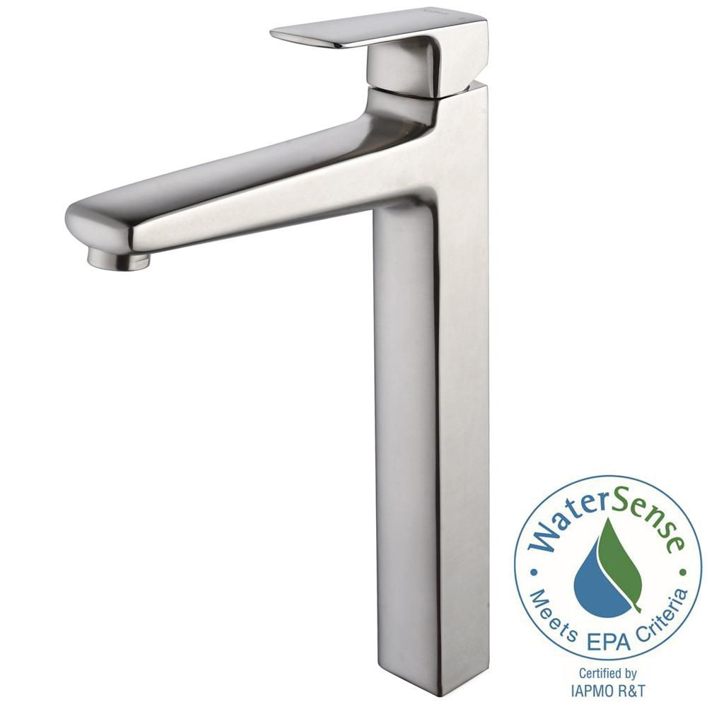 Virtus Single-Lever Vessel Bathroom Faucet in Brushed Nickel Finish