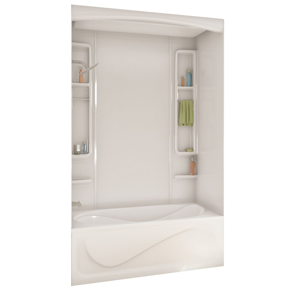 MAAX White Alaska Acrylic Tub Or Shower Wall Kit 80 Inches