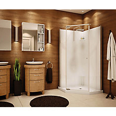 36-inch x 36-inch Lobelia 6mm Frameless Neo-Angle Shower Stall Kit