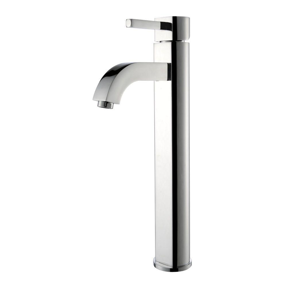 Rainfall Single-Lever Vessel Bathroom Faucet in Chrome Finish