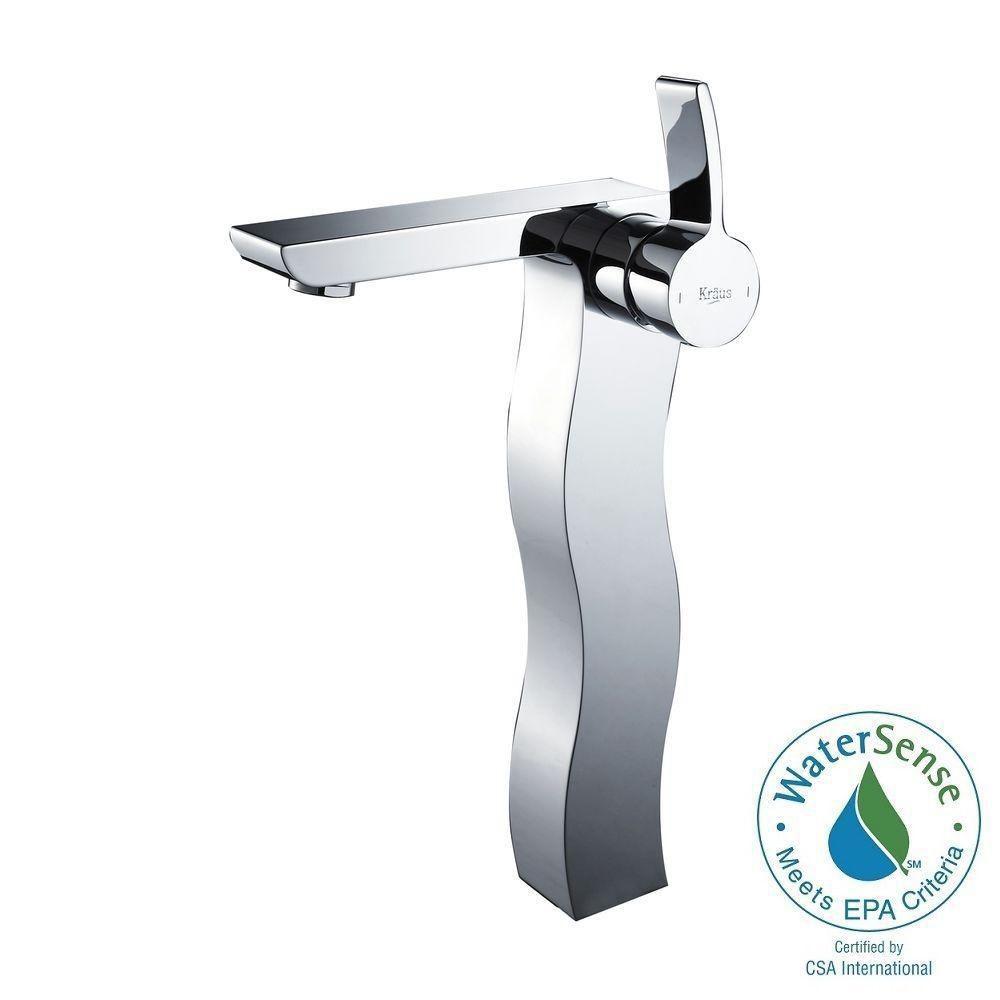 Sonus Single-Lever Vessel Bathroom Faucet in Chrome Finish