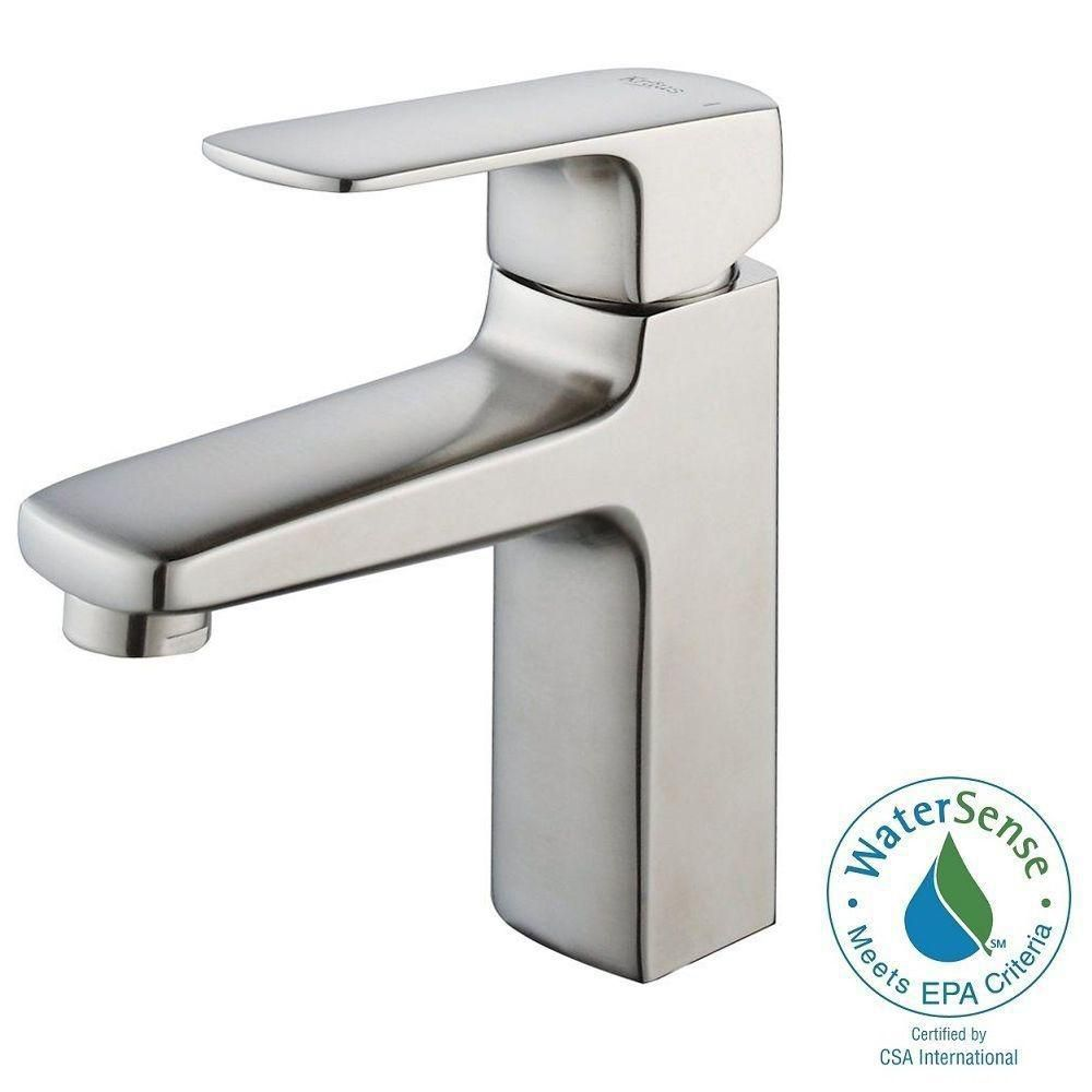 Virtus Single-Lever Basin Bathroom Faucet in Brushed Nickel Finish